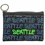 Coin Purse with Key Holder. WA. R.R. Seattle. Black/Green. WSE929-D.