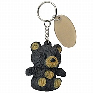Key Holder. SqueezeMe. Bear. Black.
