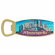 Magnet. Bottle Opener. Metal. Foil. MN. Minneapolis.