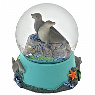Waterglobe. Glass. 65 mm. High Relief. Sea Lion.