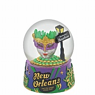 Waterglobe. Glass. 45 mm. LA. New Orleans. Mardi Gras.