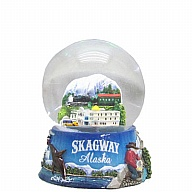 Waterglobe. Glass. 45 mm. AK. Skagway.