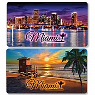 Magnet. Foil. Double-Sided. FL. Miami.