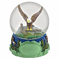 Waterglobe. Glass. 65 mm. Wilderness. Eagle.