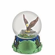 Waterglobe. Glass. 45 mm. Wilderness. Eagle.